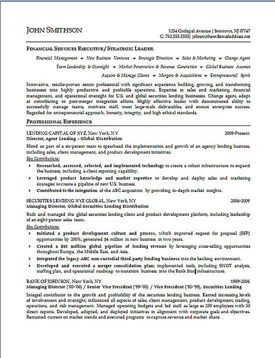 financial executive resume summary professional samples examples for finance free sample Resume Resume Summary Examples For Finance