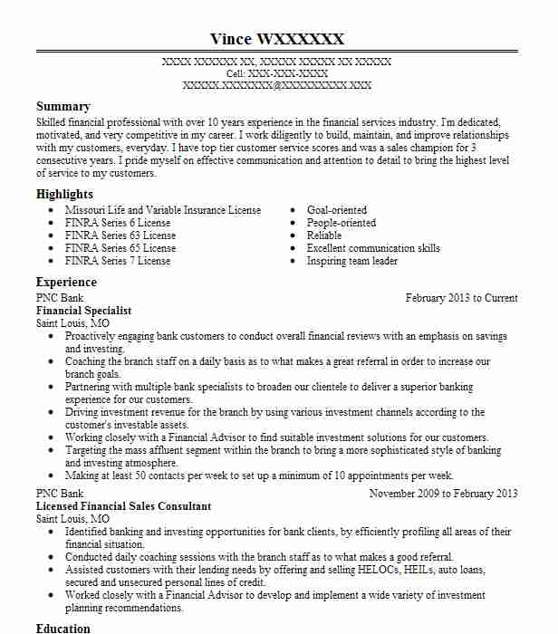 financial specialist resume example defense finance and accounting services environmental Resume Financial Specialist Resume