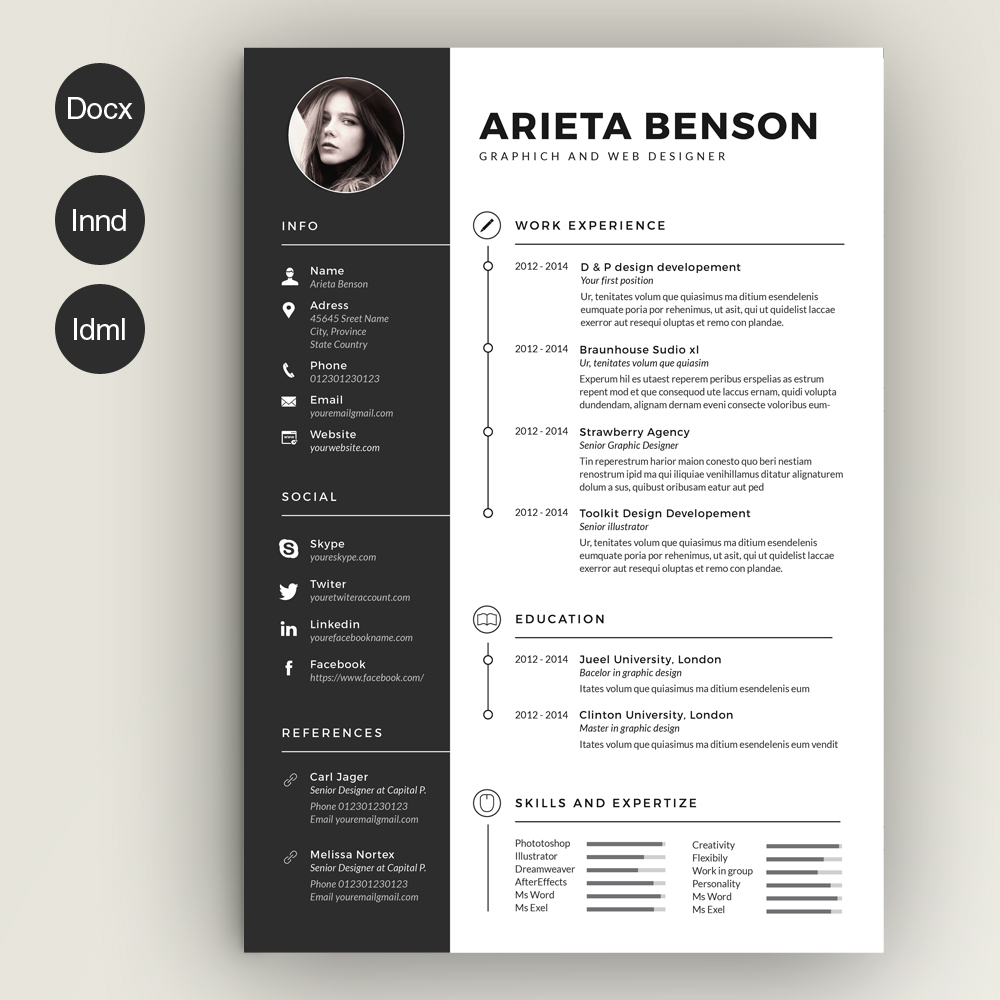 find the best photoshop resume template here for job clean cv duties of hostess jimmy Resume Resume For Photoshop Job