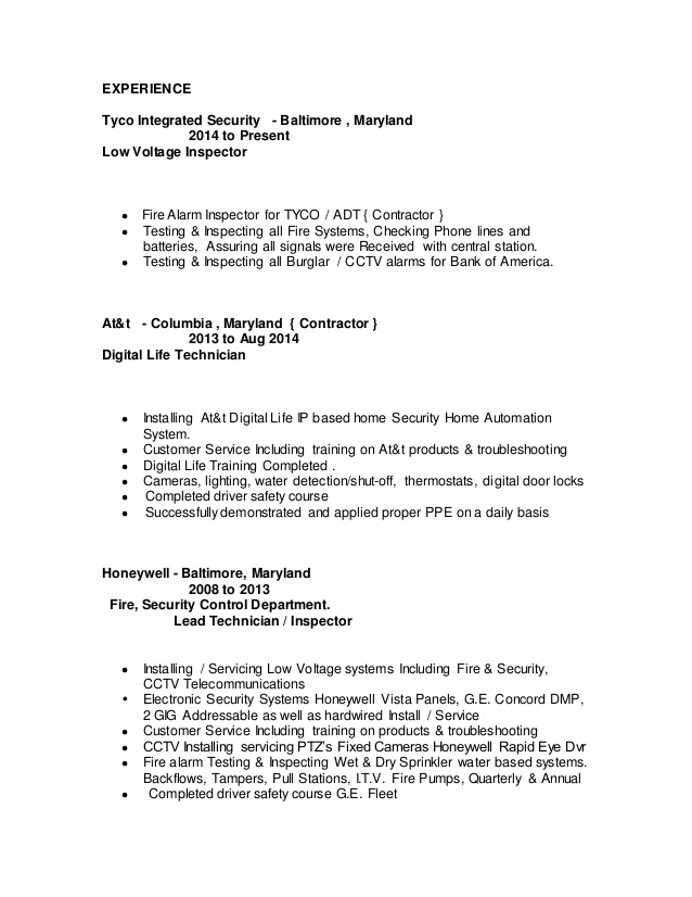fire alarm technician resume professional templates to showcase your sample Resume Fire Protection Engineer Resume