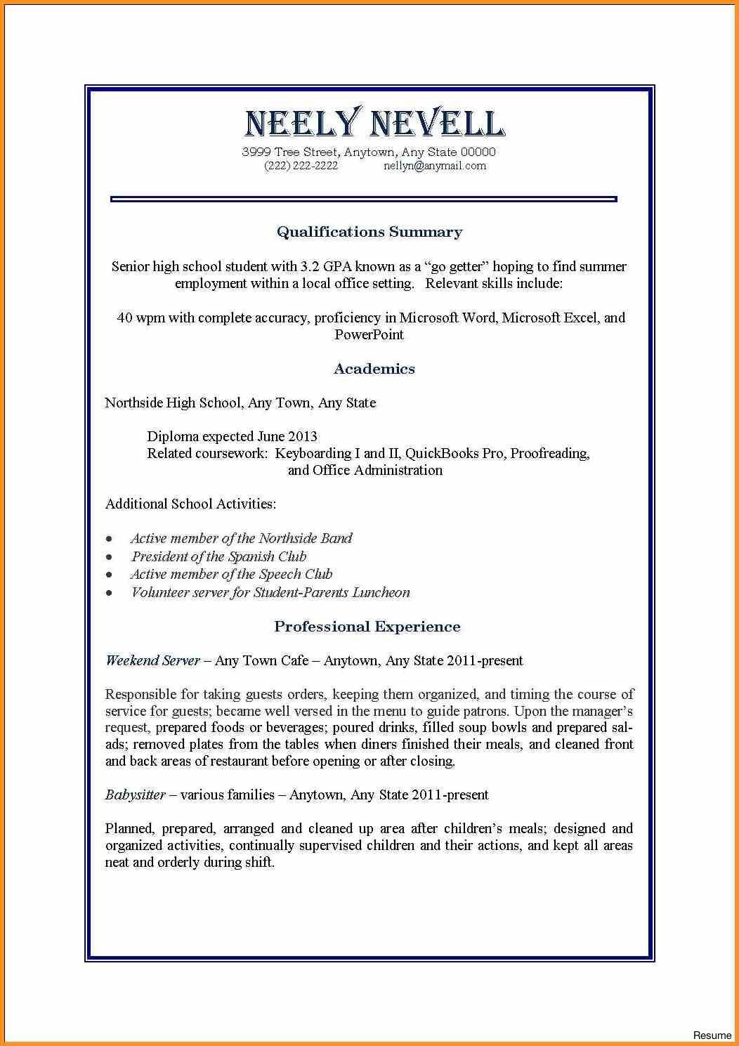 first job resume examples sarahepps with time and part jobs resu samples student template Resume First Time Job Resume For High School Student
