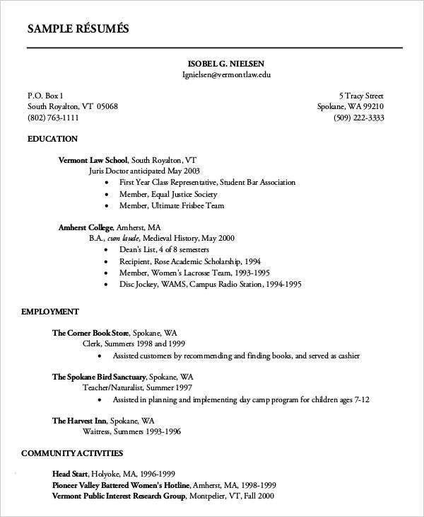 first resume templates pdf free premium year college student personality traits for Resume First Year College Student Resume