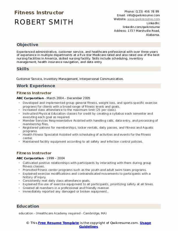 fitness instructor resume samples qwikresume for gym trainer job pdf physician fisheries Resume Resume For Gym Trainer Job