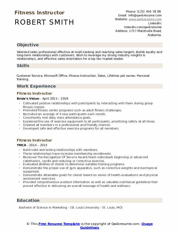 fitness instructor resume samples qwikresume for gym trainer job pdf sous chef objective Resume Resume For Gym Trainer Job