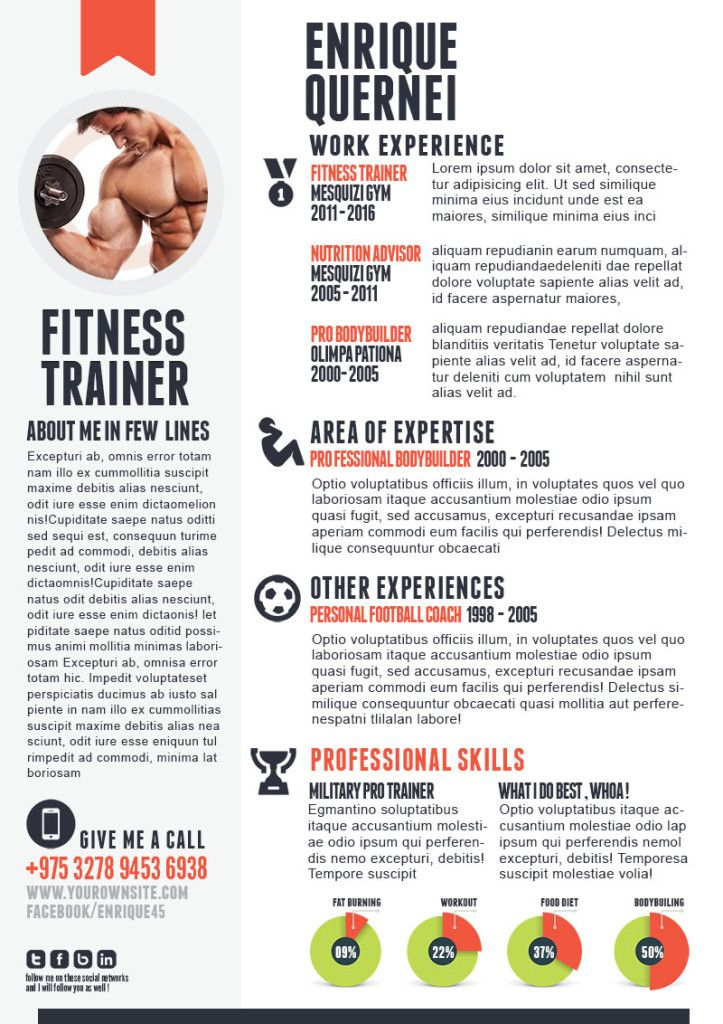 fitness trainer resume templates for cv curriculum vitae template good examples gym job Resume Resume For Gym Trainer Job