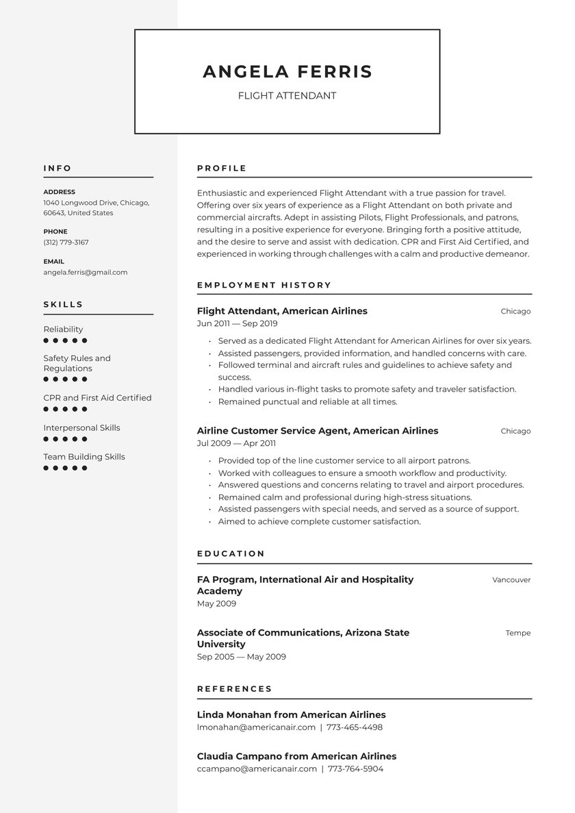 flight attendant resume examples writing tips free guide io objective professional design Resume Flight Attendant Resume Objective