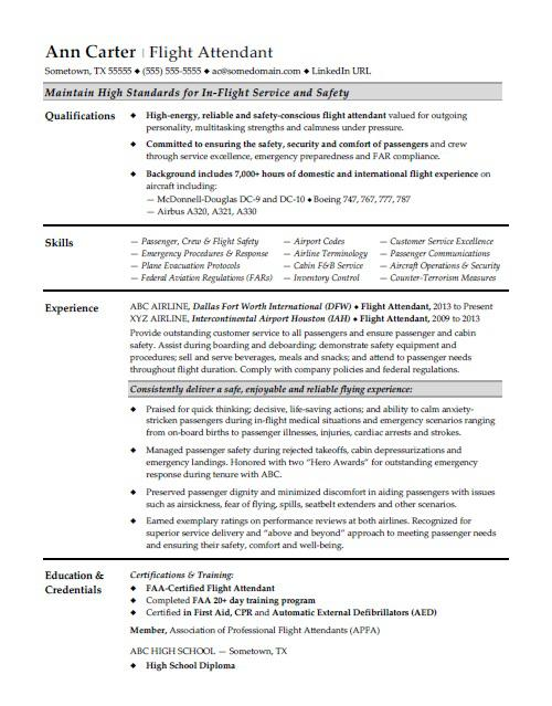 flight attendant resume sample monster format for service steward airport job polyeucte Resume Resume Format For F&b Service Steward