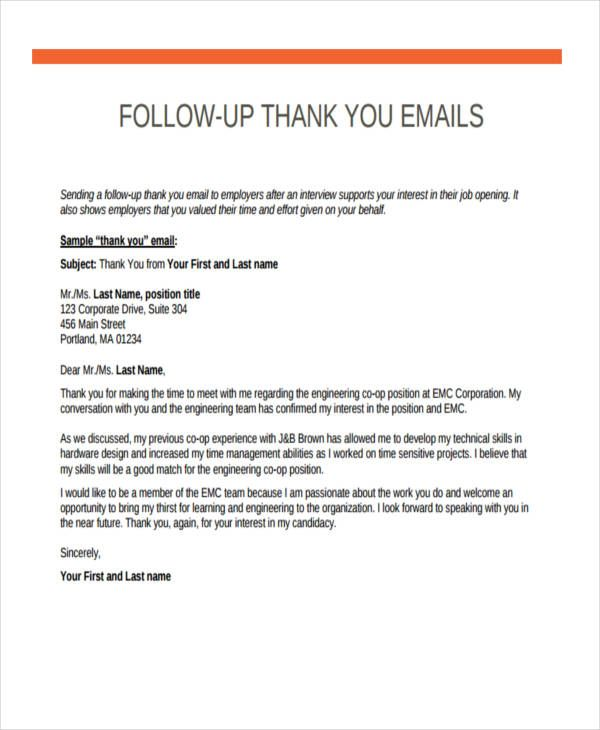 follow up emails after interview thank you email job tips letter for sending resume Resume Thank You Letter For Sending Resume