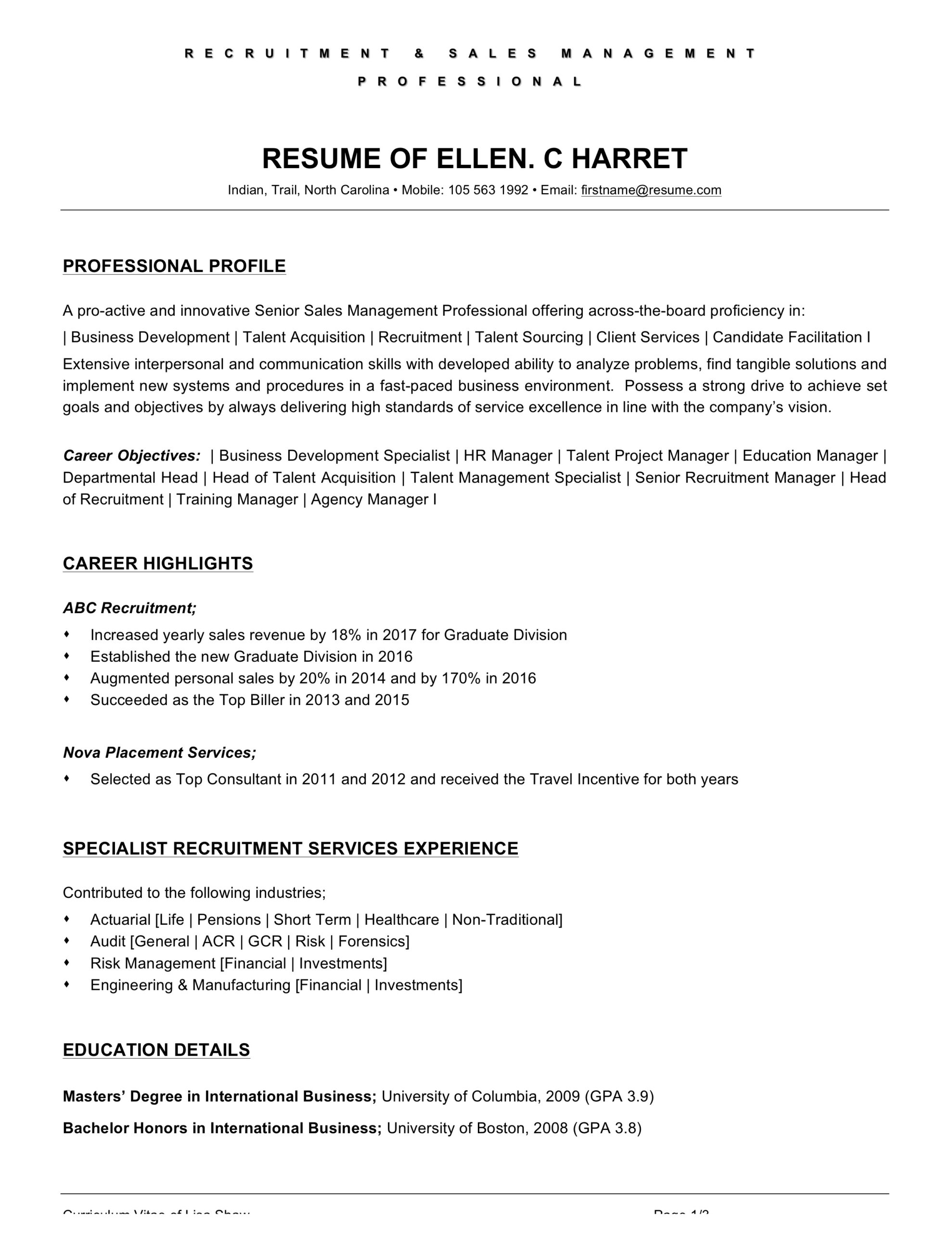 food and beverage attendant resume examples word pdf on the job training objectives Resume On The Job Training Objectives Resume
