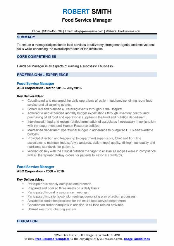 food service manager resume samples qwikresume pdf buyer duties problem solving synonym Resume Food Service Manager Resume