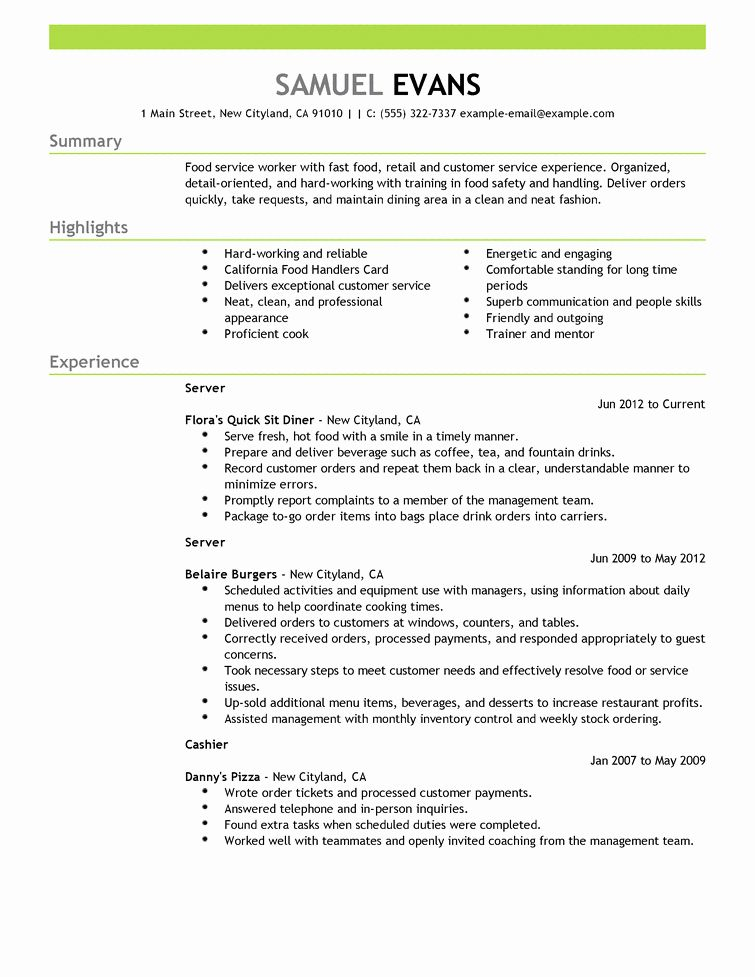 food service worker job description resume awesome resumes cv in examples good samples Resume Summary For Resume For Food Service