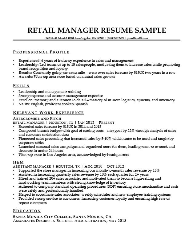for resume format store manager retail training arcgis samples software testing freshers Resume Retail Training Manager Resume