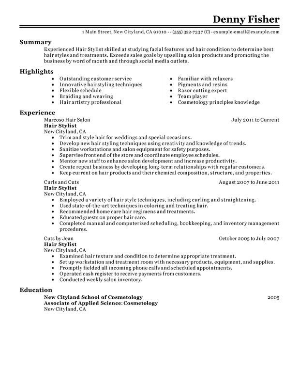 for stylist resume examples format hair template desktop support hotel front desk manager Resume Hair Stylist Resume Template