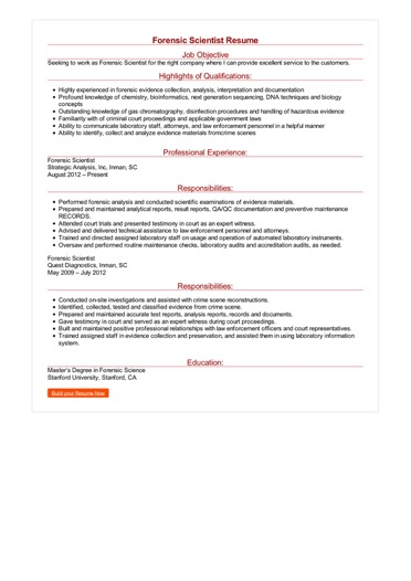 forensic scientist resume examples criminology objective sample image format and good Resume Criminology Objective Resume