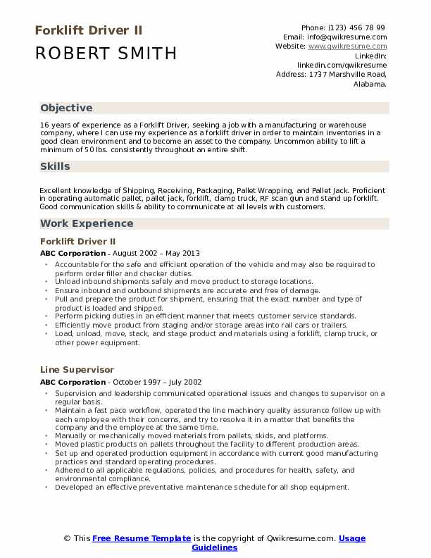 forklift driver resume samples qwikresume template example pdf student nanny duties for Resume Forklift Driver Resume Template Example