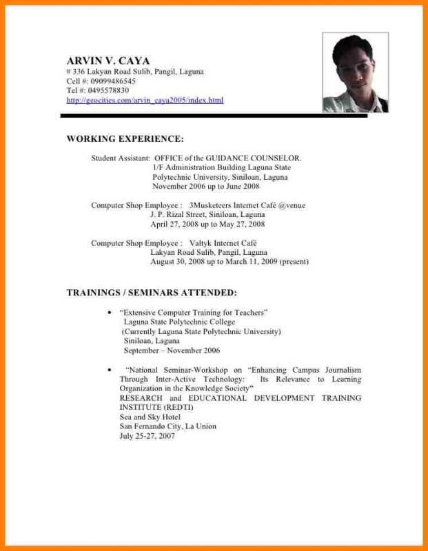 Resume trainings attended essay on the turning point