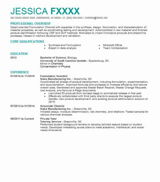 formulation scientist resume example pharmaceutics international format for and Resume Resume Format For Formulation And Development