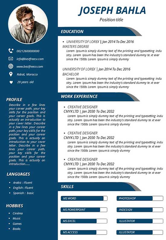 free and easily downloaded resume readymade format slide83 political sample broadcast Resume Free Readymade Resume Format