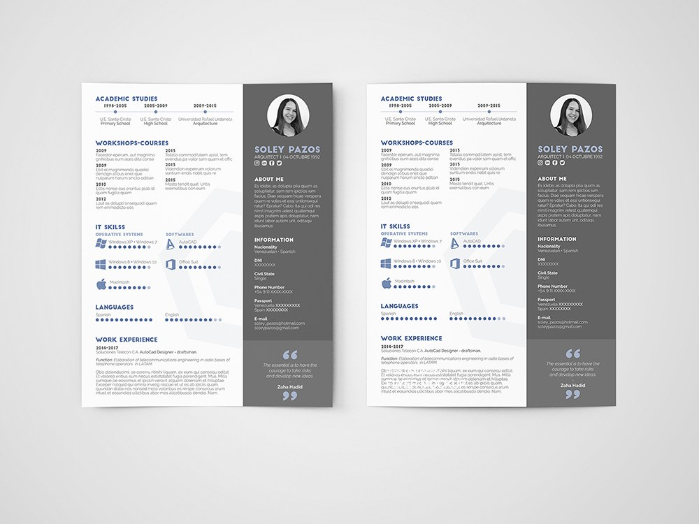 free architect resume template with clean and modern design architecture curriculum vitae Resume Architecture Resume Template