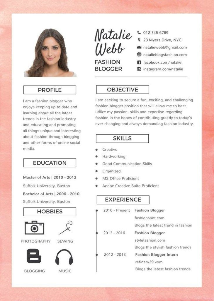 free best fashion resume cv template in photoshop word illustrator production worker Resume Free Resume Illustrator Template