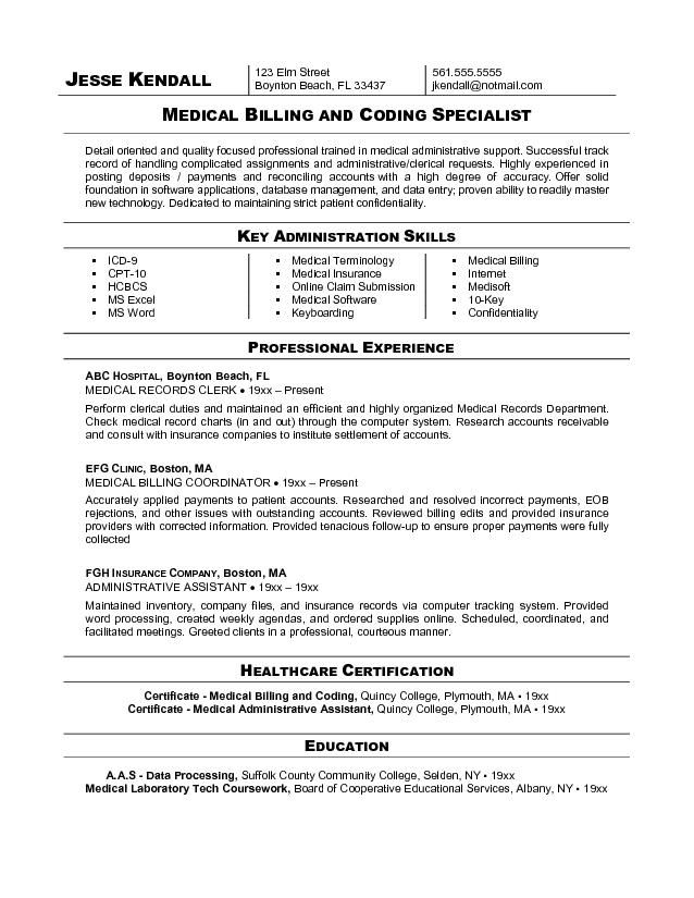 free billing coding resume sample medical coder and assistant format for job company Resume Resume Format For Medical Coding Job