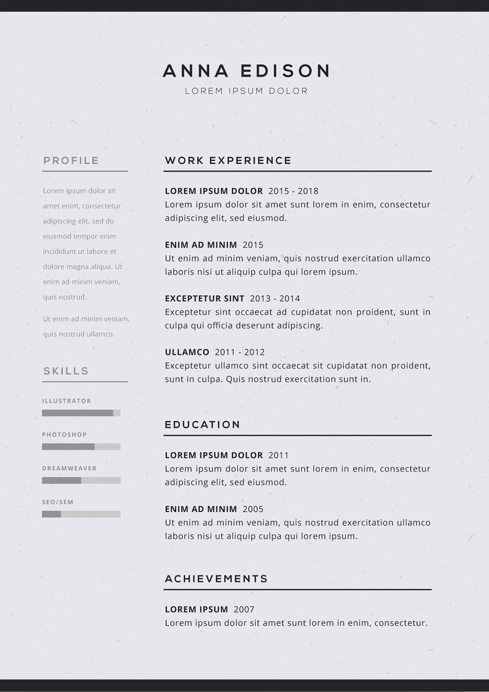 free black and curriculum resume template good readymade format simple vitae anticipated Resume Free Readymade Resume Format