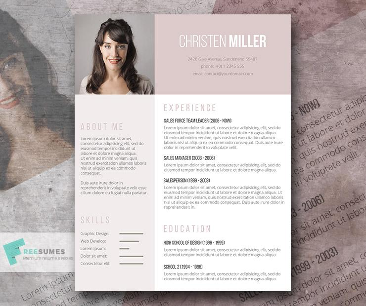 free creative ladies photo cv resume template in minimal style micr creativebooster Resume Free Creative Resume Download