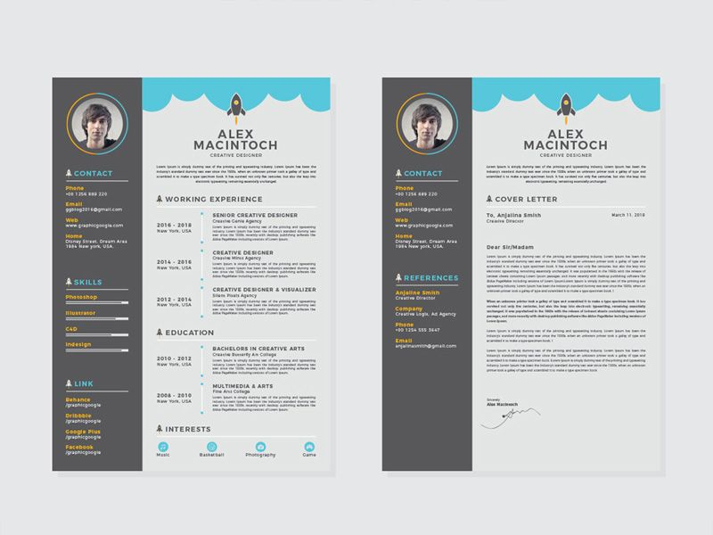 free creative resume template with matching cover letter templates and registered nurse Resume Free Matching Cover Letter And Resume Templates