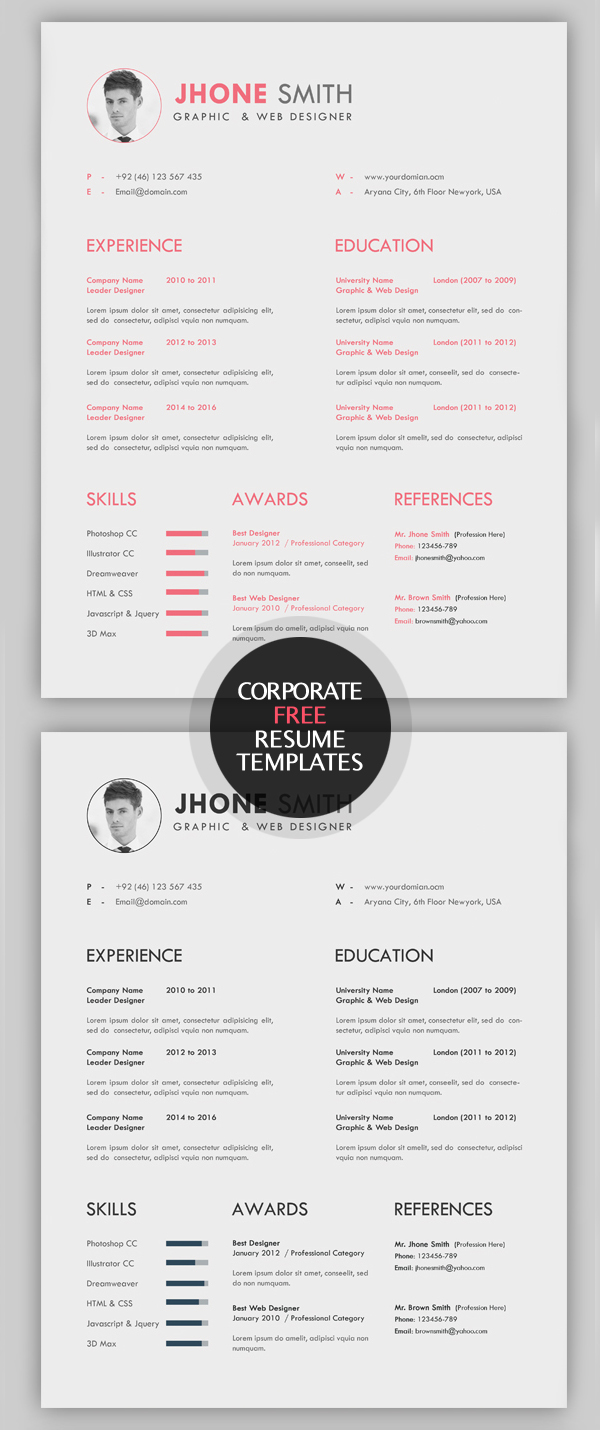 free creative resume templates with cover letter freebies graphic design junctiongraphic Resume Unique Resume Cover Letter