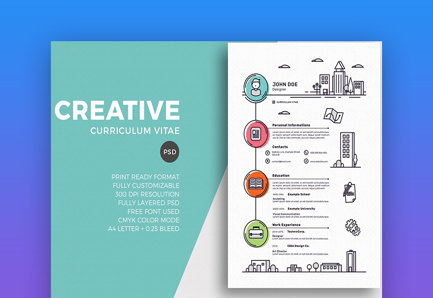 free creative resume templates word downloads for creativeresumecvtemplate gym manager Resume Free Creative Resume Download