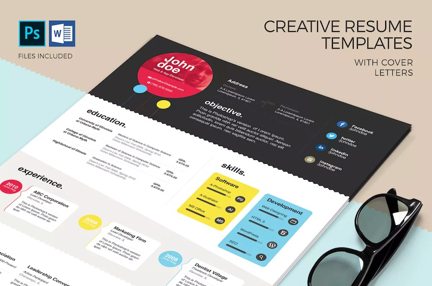 free creative resume templates word downloads for graphic design template en colorful Resume Free Graphic Design Resume Template Word