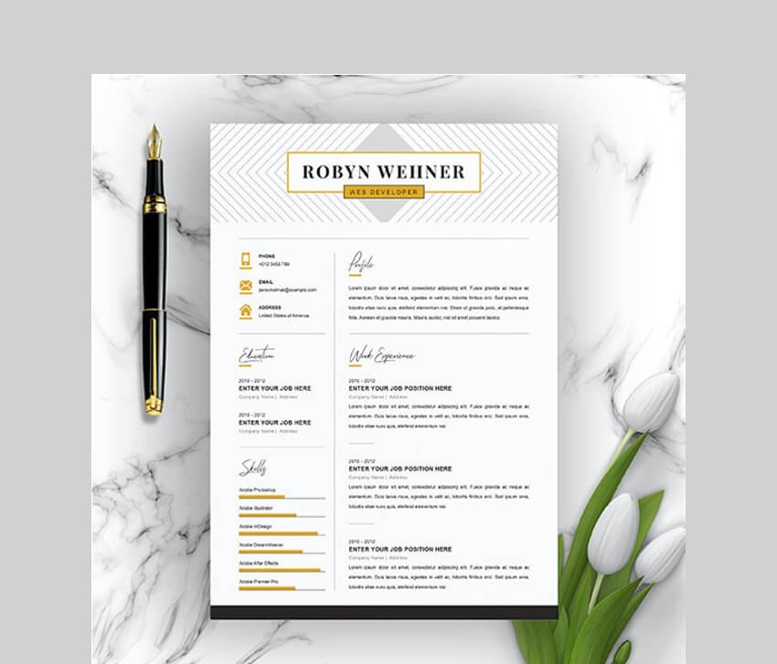 free creative resume templates word downloads for market clean template supply chain Resume Creative Market Resume Free