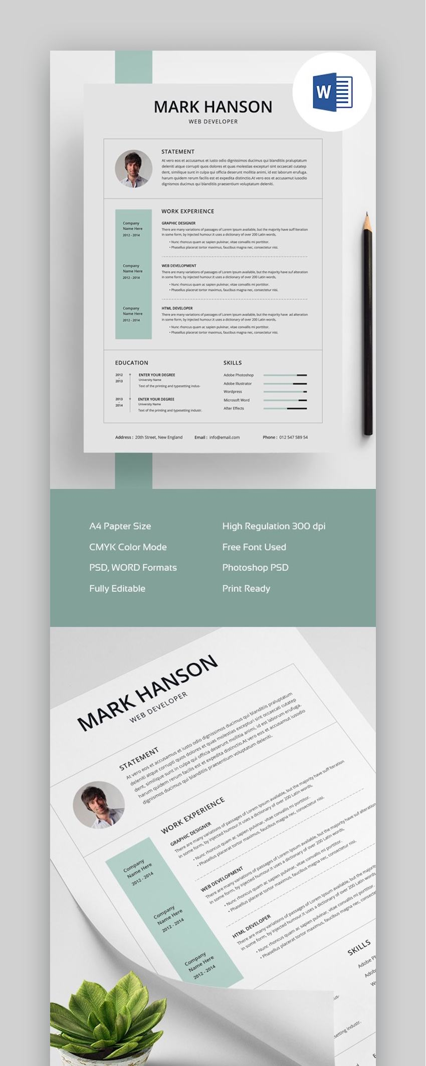 free creative resume templates word downloads for market env clean template final supply Resume Creative Market Resume Free