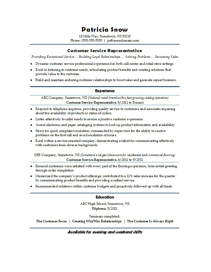 free customer service resume examples template downloads retail medical insurance Resume Resume Examples Customer Service Retail