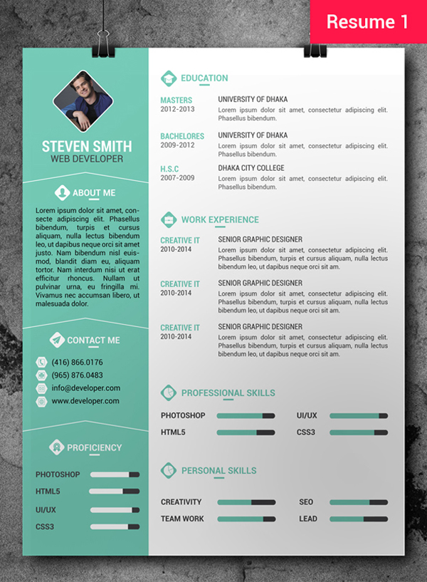 free cv resume templates freebies graphic design junction photoshop template worksheet Resume Free Resume Photoshop Templates