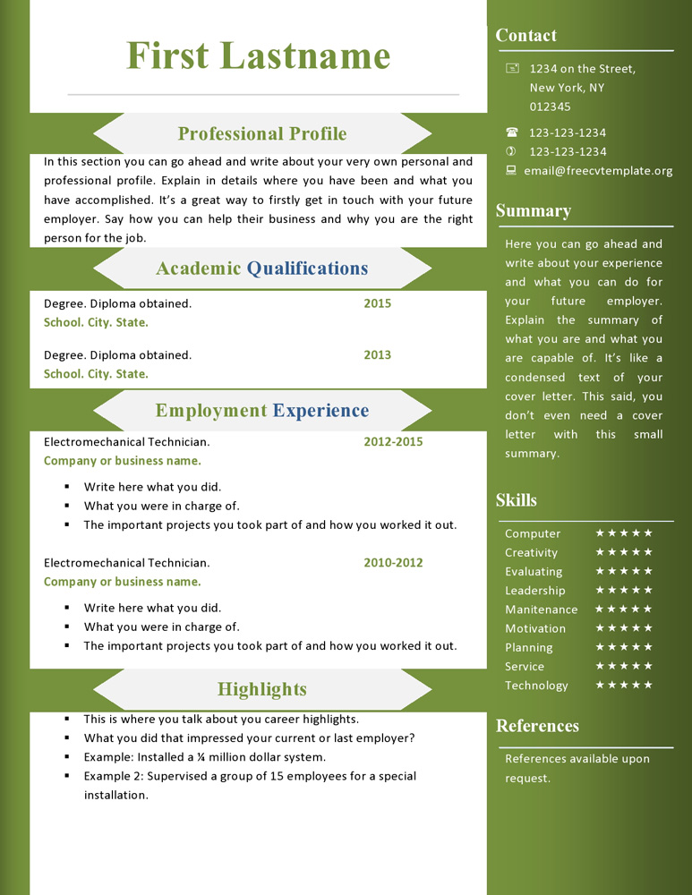 free cv resume templates to get microsoft word template for mac honors college example Resume Microsoft Word Free Resume Templates 2015