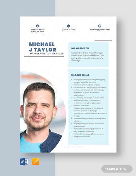 free designer resume cv template word indesign oracle project manager email symbol for Resume Oracle Project Manager Resume