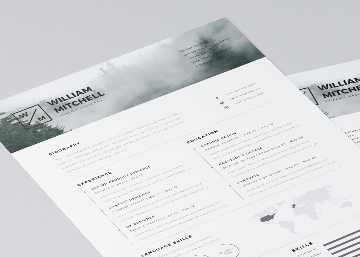 free editable cv resume templates for illustrator template wireman sample questions about Resume Free Resume Illustrator Template