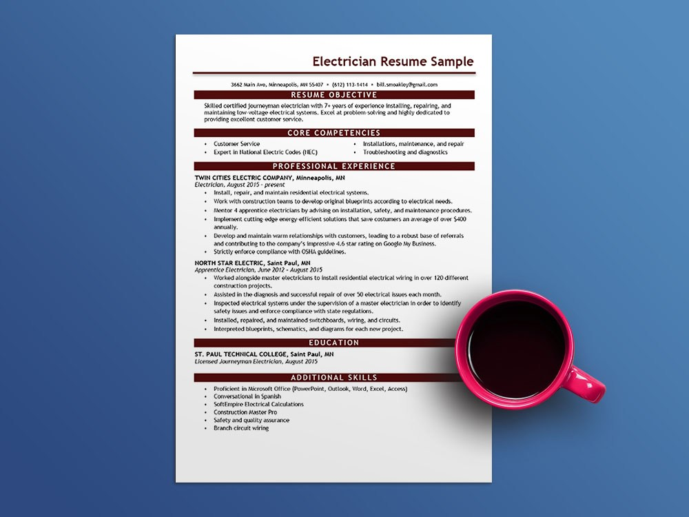 free electrician resume template microsoft word office assistant robot friendly Resume Electrician Resume Template Microsoft Word