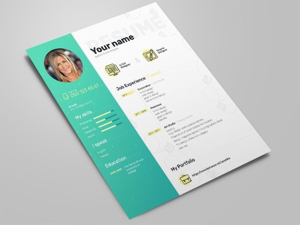 free elegant photoshop resume template with clean design in creative best templates Resume Free Resume Photoshop Templates