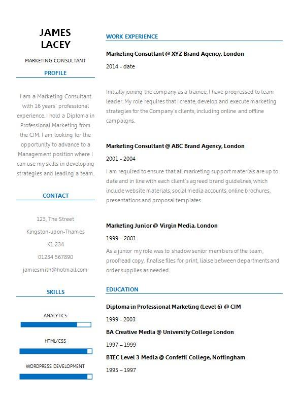free fresh two column cv resume template in microsoft word form creativebooster format Resume Two Column Resume Format