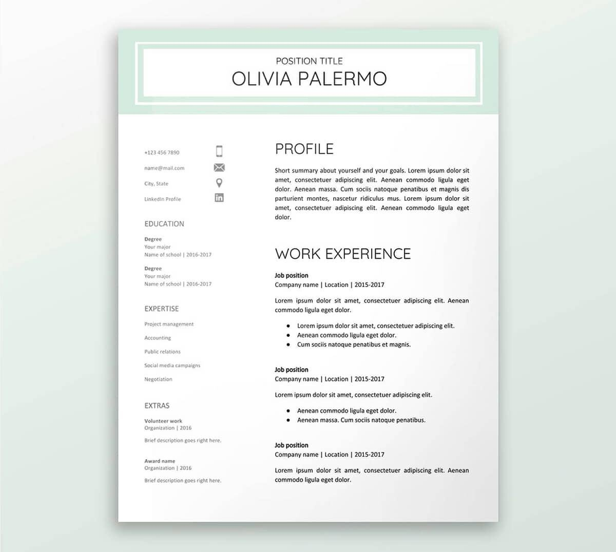 free google docs resume templates drive alternatives sheets template restaurant server Resume Google Sheets Resume Template