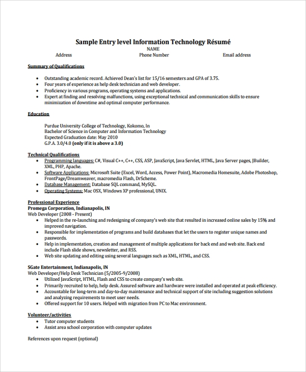 free help desk technician resume templates in pdf ms word entry level pc doctor of Resume Entry Level Pc Technician Resume