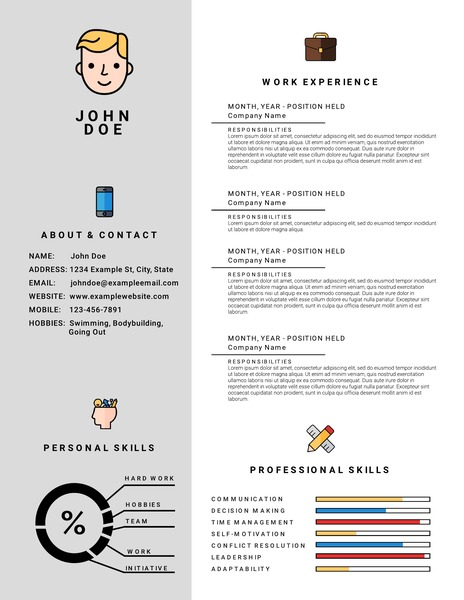free infographic resume templates downloadable lucidpress simple template icon with Resume Simple Infographic Resume Template