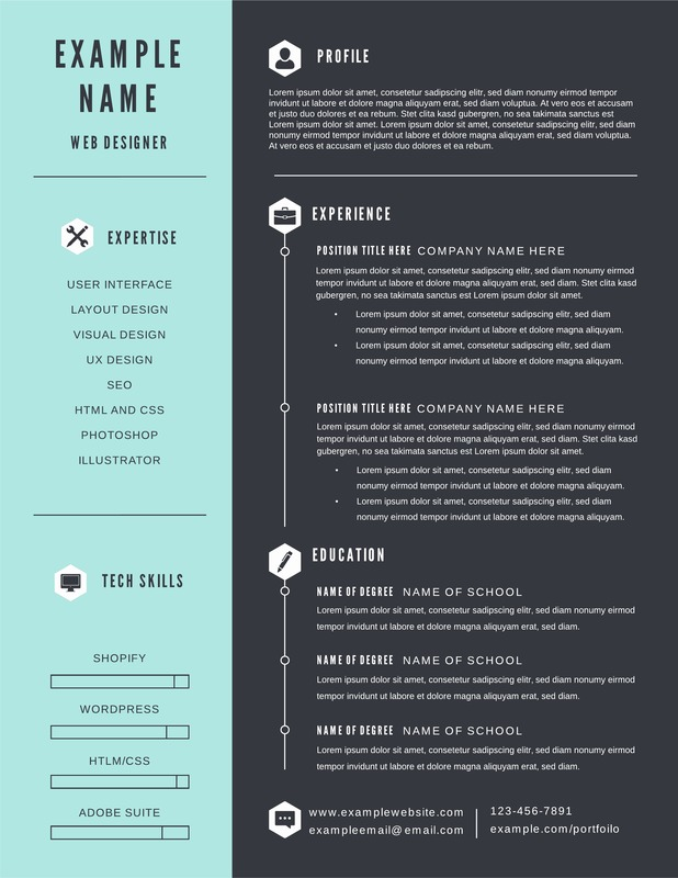 free infographic resume templates downloadable lucidpress simple template with education Resume Simple Infographic Resume Template