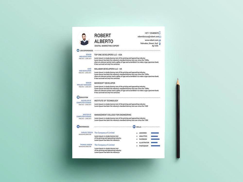 free marketing cv resume template with matching cover letter in illust creativebooster Resume Free Matching Cover Letter And Resume Templates