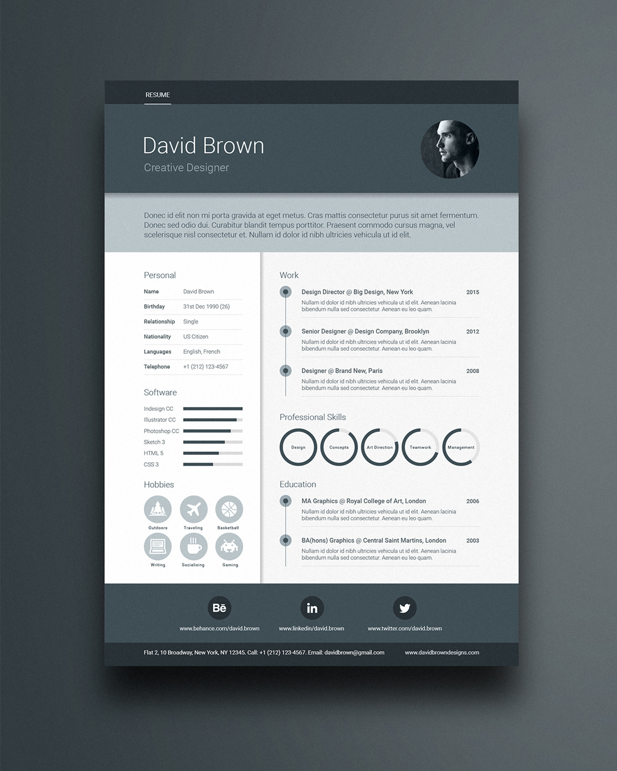 free material design resume template ikono ikonome job application and sample registered Resume Material Design Resume Template Free