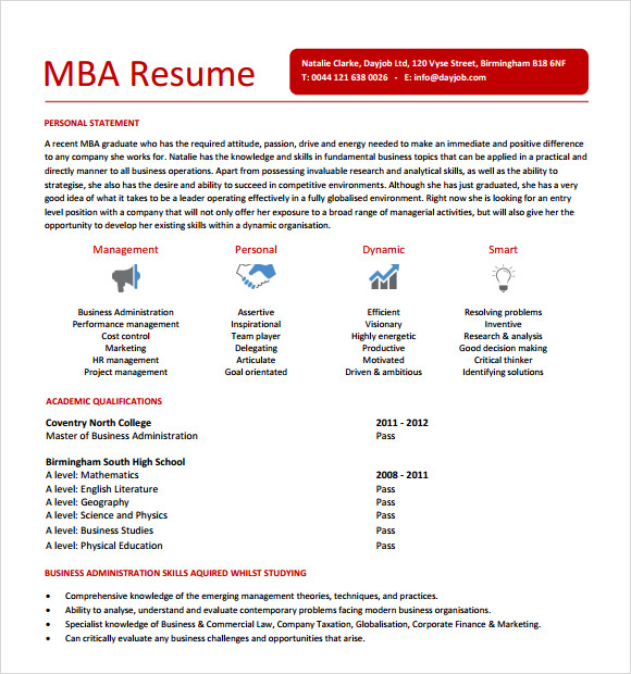 free mba resume templates in pdf best examples sample brand marketing manager Resume Best Mba Resume Examples