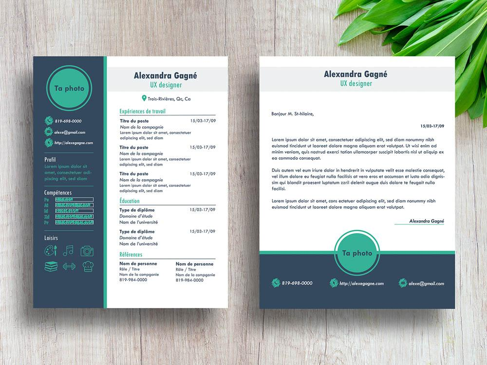 free modern cv resume template with cover letter in illustrator creativebooster templates Resume Free Modern Resume Templates For Word