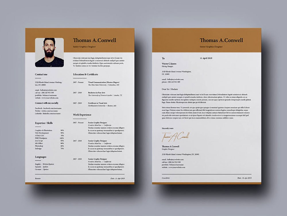 free modern indesign resume template with matching cover letter and templates federal ksa Resume Free Matching Cover Letter And Resume Templates
